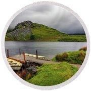 Llyn Y Dywarchen, Rhyd Ddu Snowdonia Round Beach Towel