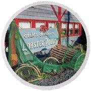 Lobster Pond Restaurant In Halls Harbour Ns Round Beach Towel