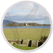 Loch Leven Castle From Kinross Round Beach Towel