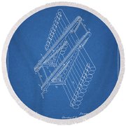 Log Loader Patent Round Beach Towel