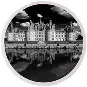 Loire Castle, Chateau De Chambord Round Beach Towel