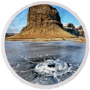 Lomagnupur Mountain Iceland Round Beach Towel