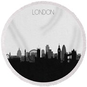 London Cityscape Art Round Beach Towel
