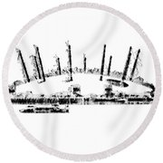 London O2 Arena Round Beach Towel by ISAW Company