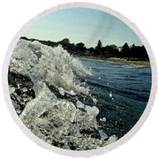 Look Into The Wave Round Beach Towel