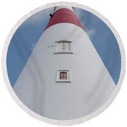 Looking Up At Portland Bill Round Beach Towel
