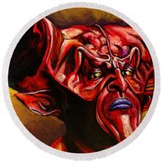 Lord Of Darkness Round Beach Towel