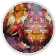 Lost Among Us Round Beach Towel