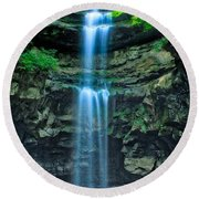 Lost Creek Falls Round Beach Towel