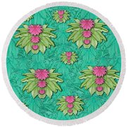 Lotus Bloom In The Sacred Soft Warm Sea Round Beach Towel