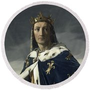 Louis Viii, King Of France Round Beach Towel