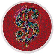 Louis Vuitton Dollar Sign-7 Round Beach Towel