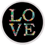 L.o.v.e Round Beach Towel