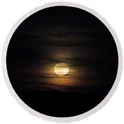 Lovely Fall Moon Round Beach Towel