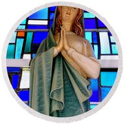 Lovely Mary Round Beach Towel