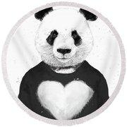 Lovely Panda  Round Beach Towel