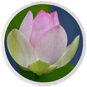 Lovely Soft Lotus Round Beach Towel