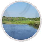 lower river Tweed near Horncliffe Round Beach Towel