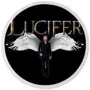 Lucifer Round Beach Towel