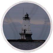 Ludington, Michigan Breakwater Lighthouse Round Beach Towel