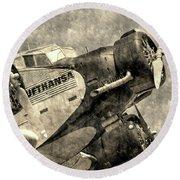 Lufthansa Junkers Ju 52 Vintage Round Beach Towel