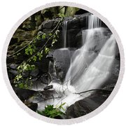 Lumsdale Falls 10.0  Round Beach Towel