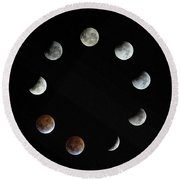 Lunar Eclipse Round Beach Towel