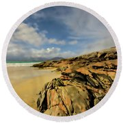 Luskentyre Digital Painting Round Beach Towel