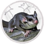 M Is For Mahogany Glider Round Beach Towel