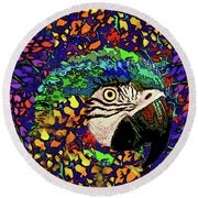 Macaw High II Round Beach Towel