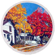 Machelle Street, Round Beach Towel