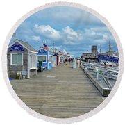 Macmillan Pier Provincetown Cape Cod Massachusetts 01 Round Beach Towel
