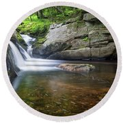Mad River Falls Round Beach Towel by Nathan Bush
