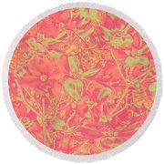 Magnolia Abstract Round Beach Towel by Mae Wertz