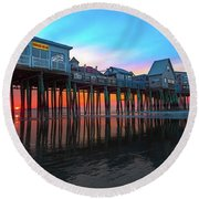 Maine Magnificent Morning Round Beach Towel