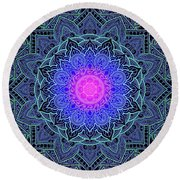 Mandala Love Round Beach Towel