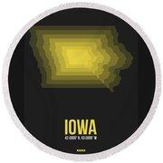 Map Of Iowa Round Beach Towel