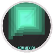 Map Of New Mexico 3 Round Beach Towel