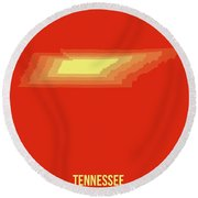 Map Of Tennessee 4 Round Beach Towel