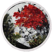 Maple Tree 2 201908 Bonsai Penjing Museum National Arboretum Round Beach Towel