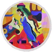 Marc And Bella Chagall Round Beach Towel