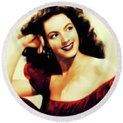 Maria Felix, Vintage Actress Round Beach Towel