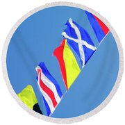 Maritime Signal Flags Round Beach Towel