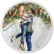 Marry Me Round Beach Towel