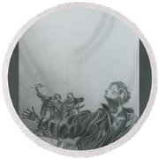 Martyrs' Square Statue-beirut Round Beach Towel