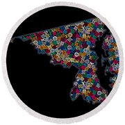 Maryland Map - 2 Round Beach Towel