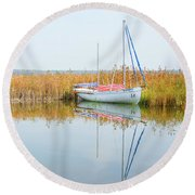 Masovian Lake Round Beach Towel