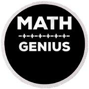 Math Genius Apparel Round Beach Towel