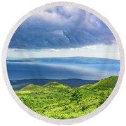 Maui Paradise Round Beach Towel by Jim Thompson
