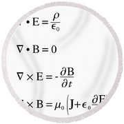 Maxwell's Equations Round Beach Towel